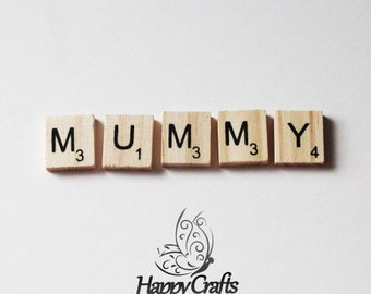 Wooden Letter Magnet Word Mummy