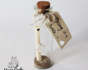 Beach Sand Message in a Bottle Decorations