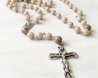 Memorial Bead Rosary Keepsake: Petals from Wedding, Funeral, Baptism, Shower, Anniversary, Birth, Special Occasion