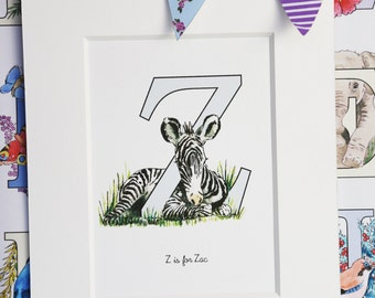 Alphabet Pictures - Z : Personalised Prints