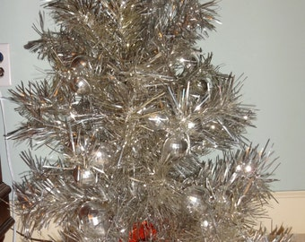 Aluminum Christmas Tree (Half for wall display) 1960's
