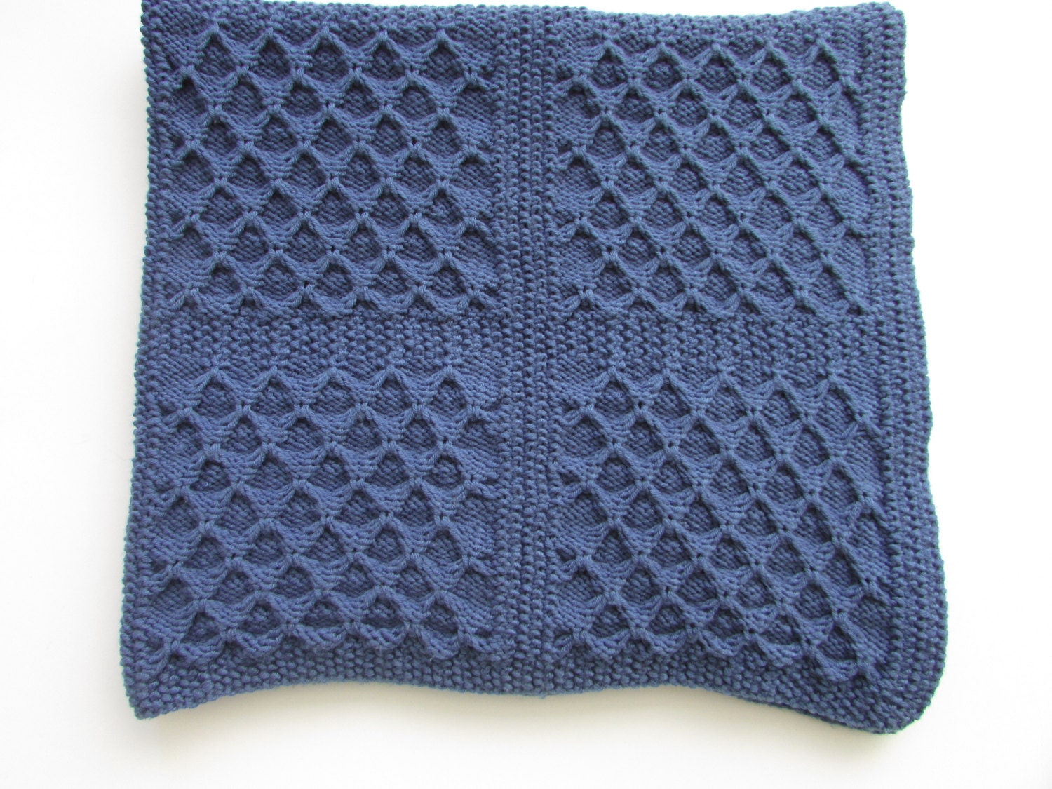 Baby Blanket knitting Pattern Dimple Squares Baby Blanket