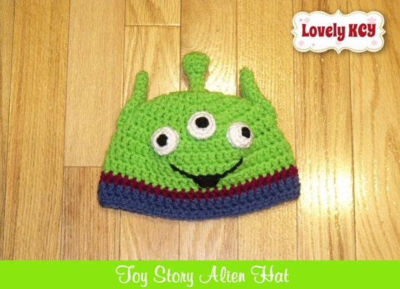 Crochet Toy Story Green Alien Inspired Baby by CrochetbyYanina