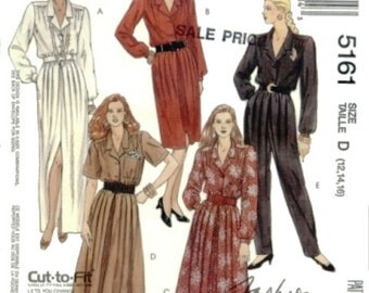 McCall's 5161 Easy Dress and jumpsuit Size 12-14-16  UNCUT