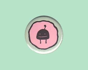 Cute Monster Badge - cute monster pin, cute monster button. kawaii monster pin, cute creature pin, cute monster gift, black monster pin