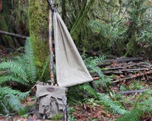 PNWBushcraft Waxed Canvas Ground Cloth, Hammock Chair,  for Bushcraft, Outdoor Gear, Camping, Adventure, Hiking