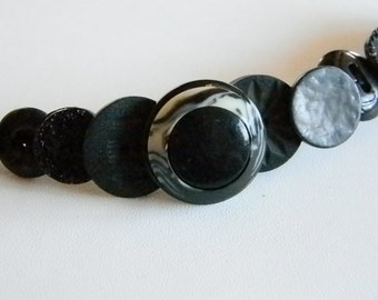 Various Size Black Button Bracelet