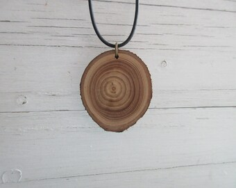 Maple Necklace, Wooden Pendant, Eco Necklace, Nature Lover