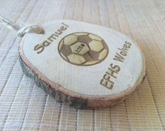 Custom soccer Ornament, soccer ornament, soccer team gift, soccer christmas gift, soccer coach gift, soccer decor
