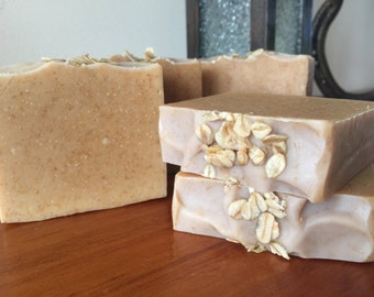 Oatmeal Milk & Honey, Natural Handmade Unscented Soap