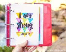 6 Watercolor Planner Pages, download, Bible