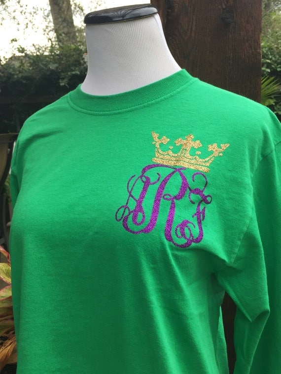 Mardi Gras Pocket Monogrammed Shirt - Youth and Adult Sizes