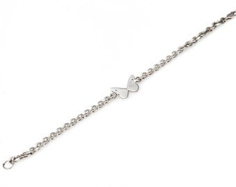Butterfly thick chain bracelet
