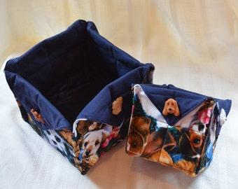 Adorable Cloth Basket for the Dog Lover!