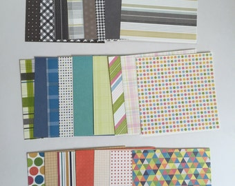 Scrapbook paper pack, patterned paper, 6x6 paper, scrap pack, paper pack
