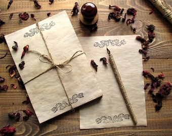20 sheets aged paper, handmade paper, antique leaflets, wedding invitation, ancient paper imitation, wedding invitation paper.