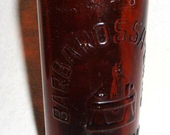 Barbarossa BRAU artern, Thüringen / Thuringia - around 1930 - old German beer bottle