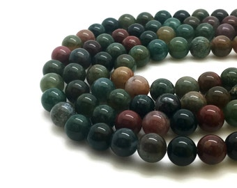 6mm Natural Indian Agate Beads Round 6mm Indian Agate 6mm 6mm Agate 6mm Beads 6mm Round Agate Indian Semi Precious Stone Mala Beads