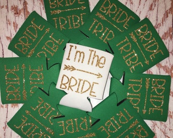 Bride Tribe Can Holders / bachelorette party favors / monogrammed / can hugger / can cooler / bride tribe