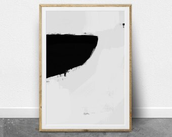 Minimalist Painting, Abstract Wall Art, Printable Wall Art, Scandinavian Modern, Fine Art Print, Black and White Minimal Wall Art, Painting