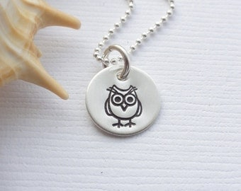 Sterling Silver Owl Necklace - Lots of other Designs available