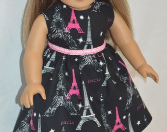"""American Girl Doll Clothes-American Girl  Paris Dress-Grace Thomas-18"""" Doll Clothes-Bitty Baby Doll Clothes-American Girl Clothes"""