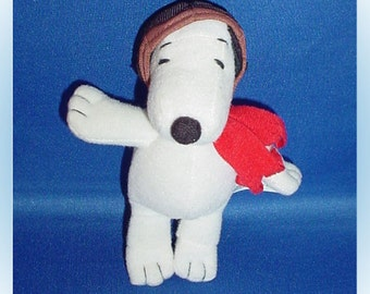 Snoopy Flying Ace Pilot Plush Lever Brothers Promotional Toy