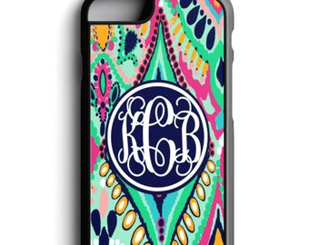 Lilly inspired, Floral Jewel, phone case, paisley, phone case for iPhone and Samsung Galaxy and Note