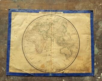 Geographical map Eastern Hemisphere 1850 / 1900