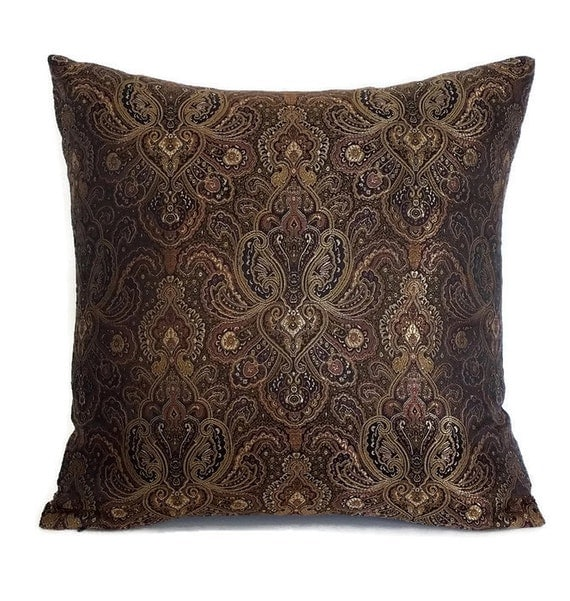 paisley throw pillow brown decorative pillow brown throw