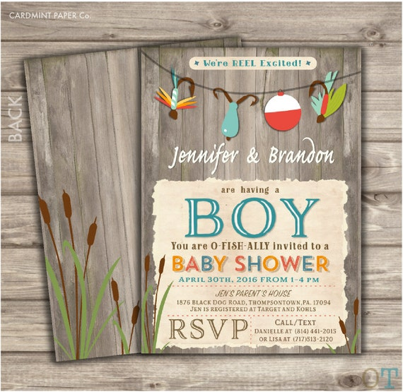 Fishing Baby Shower Invitations Boy Shower It S A Boy
