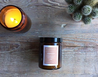 Soy Aromatherapy Candle - NYC Apothecary style with essential oils of Lemongrass Essential oils