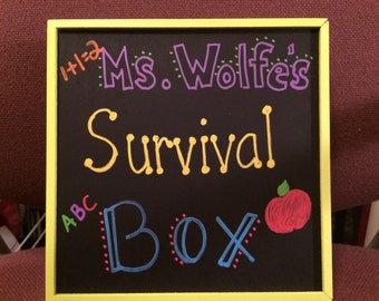 Teacher Appreciation/ Teacher survival box/ Teacher Gift