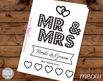 wedding coloring book childrens activity sheets booklet printable personalize kids pages maze print at home color - Wedding Coloring Books