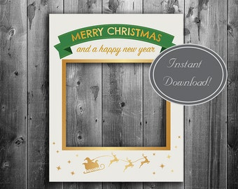 Christmas photobooth frame, Digital download, giant photo booth prop, christmas selfie, holiday party prop, selfie photos, party props