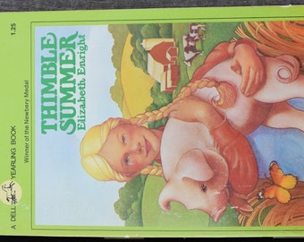 Vintage 1966 Thimble Summer Book by Elizabeth Enright Dell Yearling