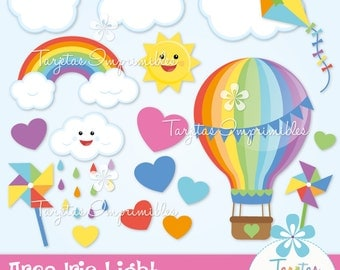 Rainbow clipart - Digital clip art - immediate download - PNG - Scrapbook