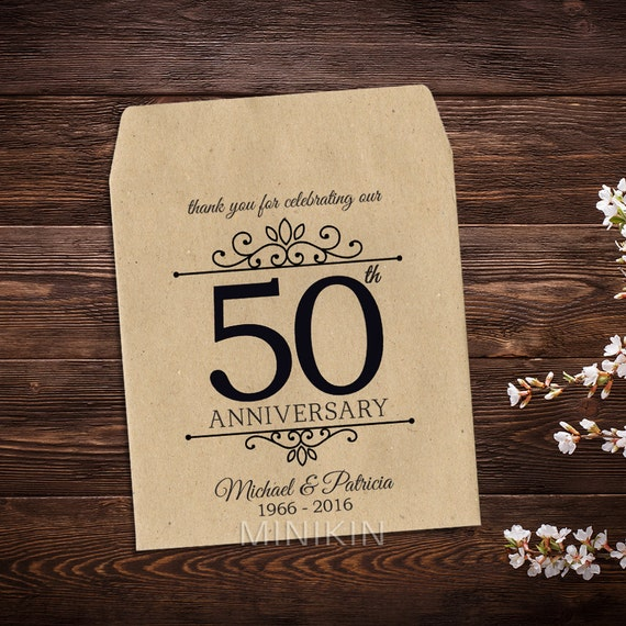 50th Anniversary Favor 50th Anniversary Seed Envelopes
