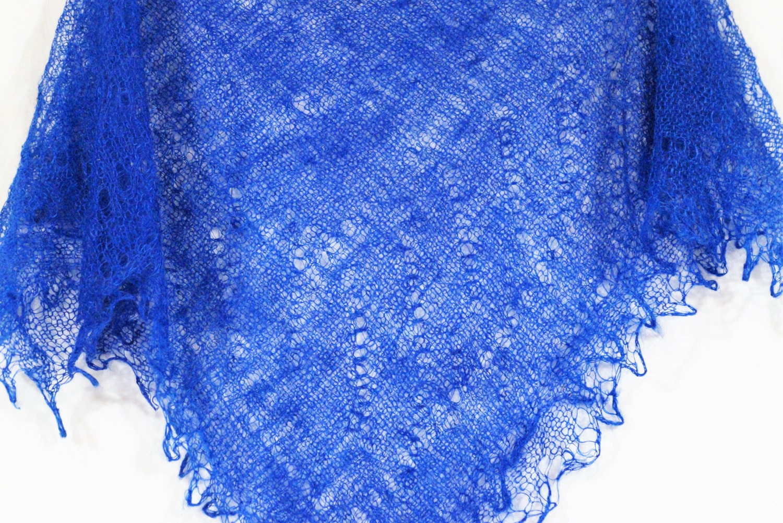 Knitting Shawl Russian : Russian orenburg lace knitted shawl dark blue