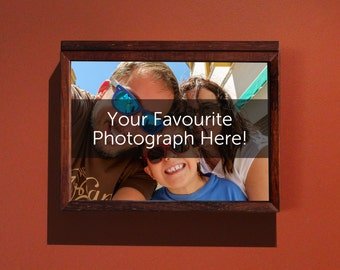 We print your favourite photographs! Free-standing or wall mountable box frame with A4 print
