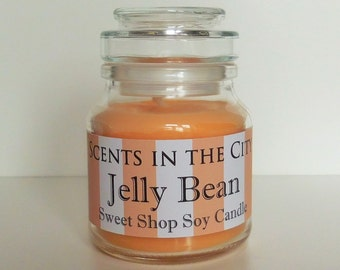 Jelly Bean Soy Candle in Glass Jar - Sweet Shop Candle