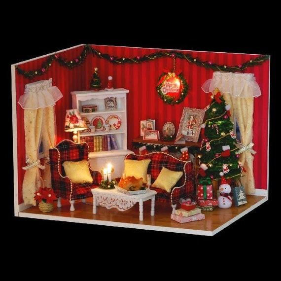 DIY Miniature Dollhouse Kit Christmas Dollhouse Kit By KoolKro