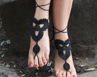 Barefoot Sandals Crochet Cotton