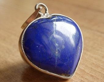 Beautiful lapis lazuli heart pendant