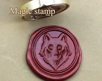 Wolf Wax Seal Stamp, wedding stamp ,party wax seal stamp,initial wax seal stamp set (DZ293)