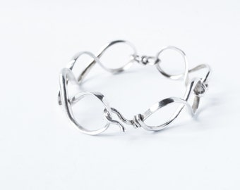 Chain bracelet. Sterling silver. Offered delivery.