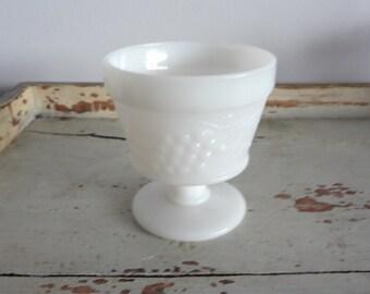 Vintage milk glass vase/candy dish