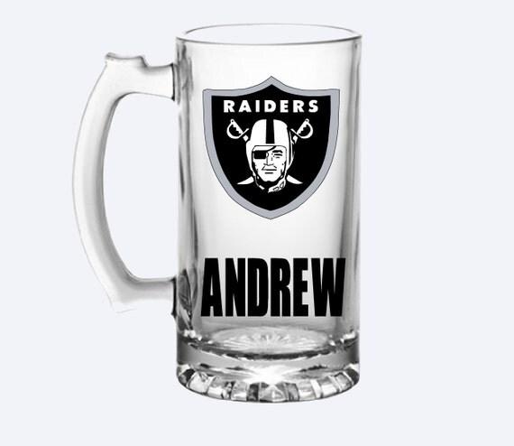Personalized Raiders Beer Mug Oakland Raiders By