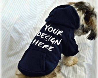 Custom Designed Dog Sweatshirt. Custom Screen Printed Dog Apparel. Custom Designed Logo. Personalized Dog Hoodie.