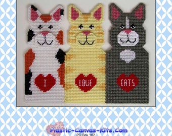 I Love Cats Folding Screen-Plastic Canvas Pattern-PDF Download